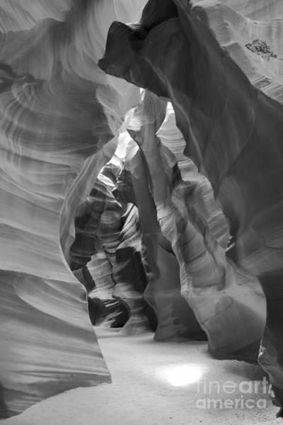 Photograph - Black And White Antelope Light Beam by Adam Jewell