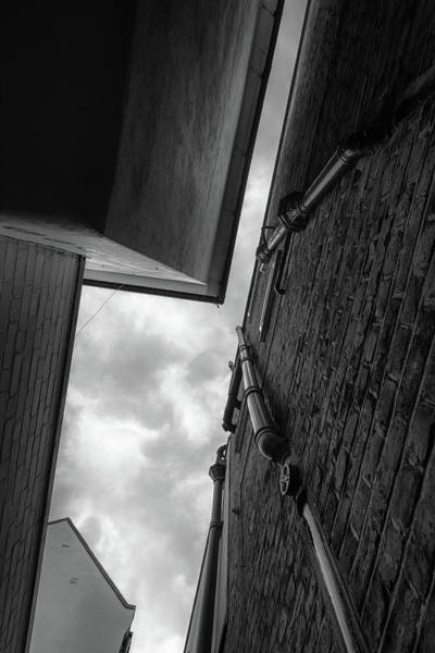 Photograph - Black And White Architecture Triangle Abstract by John Williams