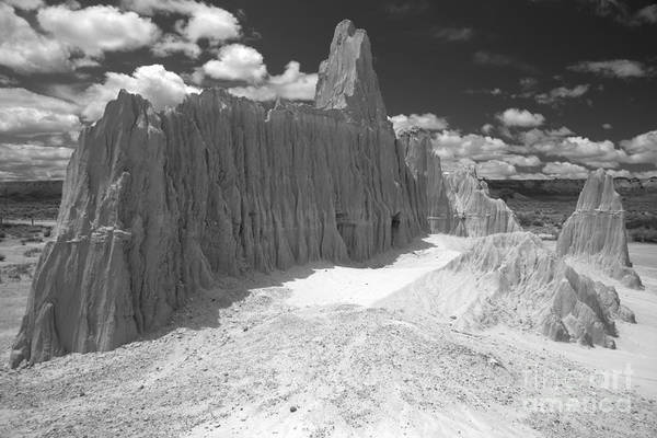Photograph - Black And White Bentonite Towers by Adam Jewell