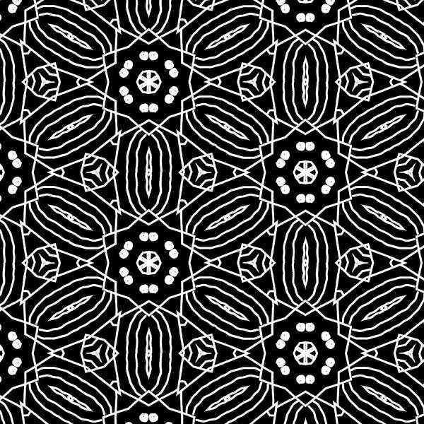 Black And White Digital Art - Black And White Boho Pattern 2- Art By Linda Woods by Linda Woods
