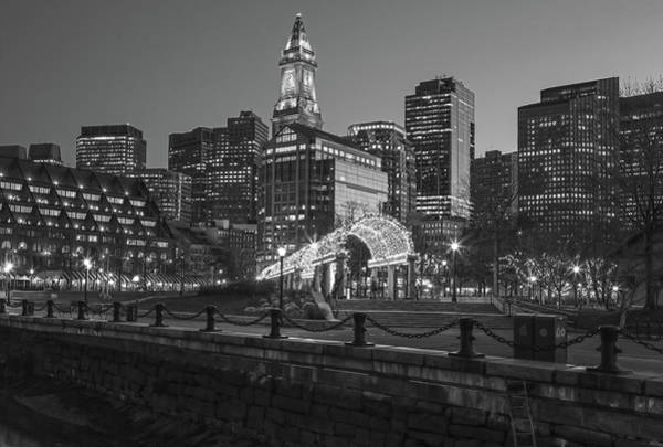 Photograph - Black And White Boston North End by Juergen Roth