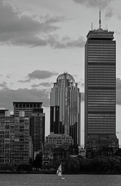 Photograph - Black And White Boston Pru by Juergen Roth