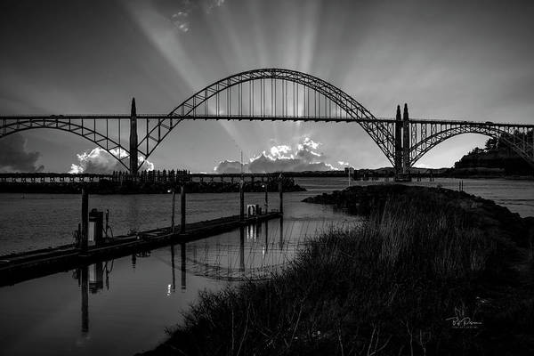 Photograph - Black And White Bridge by Bill Posner