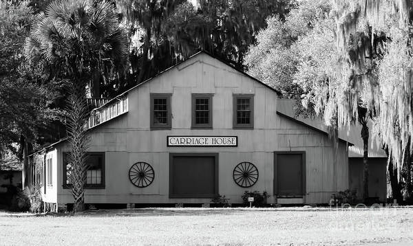 Photograph - Black And White Carriage House by D Hackett