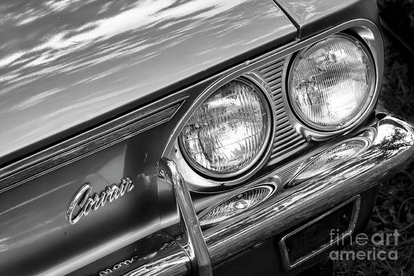 Corvair Photograph - Black And White Corvair by Dennis Hedberg