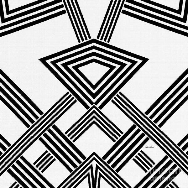 Digital Art - Black And White Diamond by Rafael Salazar