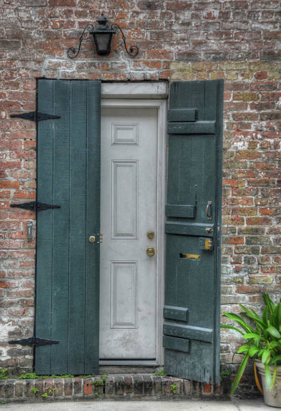 Photograph - Black And White Door by Michael Kirk