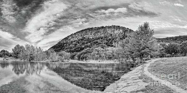 Photograph - Black And White Fall Colors At Garner State Park - Frio River At Concan - Texas Hill Country by Silvio Ligutti
