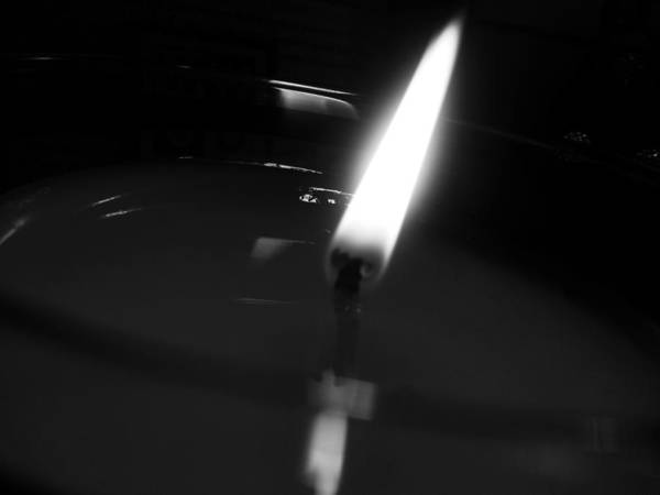 Photograph - Black And White Flame by Robert Knight