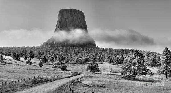 Photograph - Black And White Fog Around The Tower by Adam Jewell