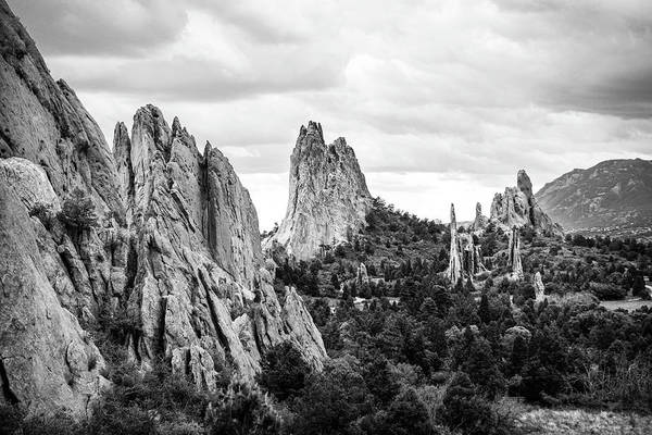 Wall Art - Photograph - Black And White Garden Of The Gods by Marilyn Hunt