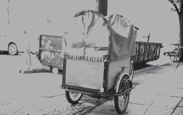 Photograph - Black And White German Stroller by Nacho Vega