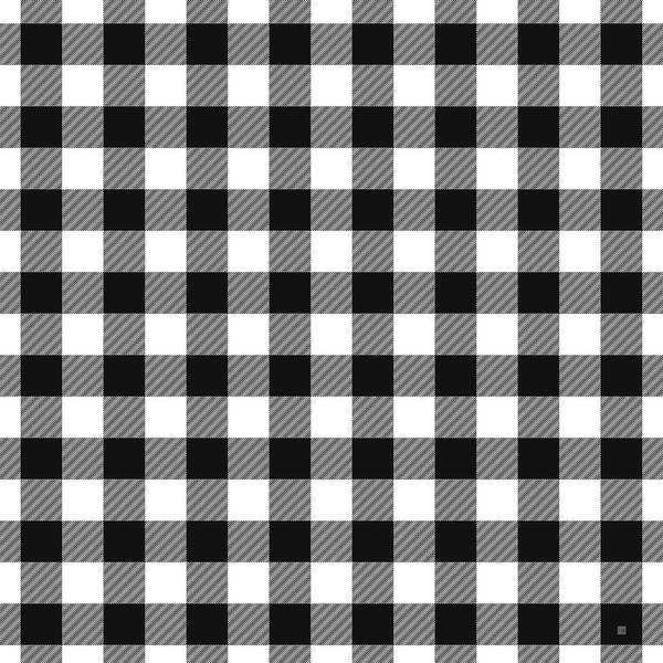 Black And White Digital Art - Black And White Gingham Small- Art By Linda Woods by Linda Woods