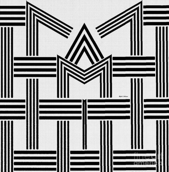 Digital Art - Black And White M by Rafael Salazar