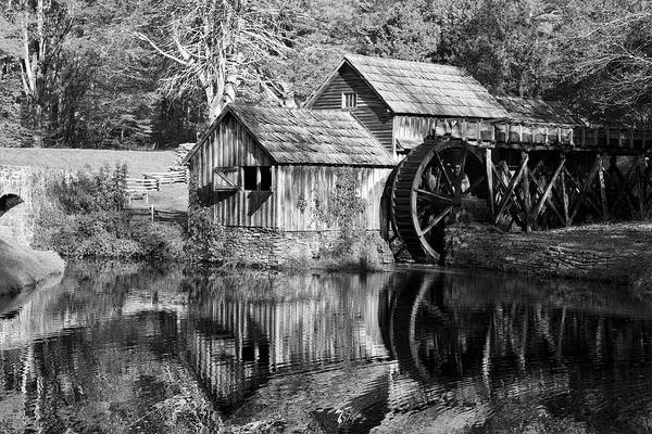 Photograph - Black And White Mabry Mill by Jill Lang