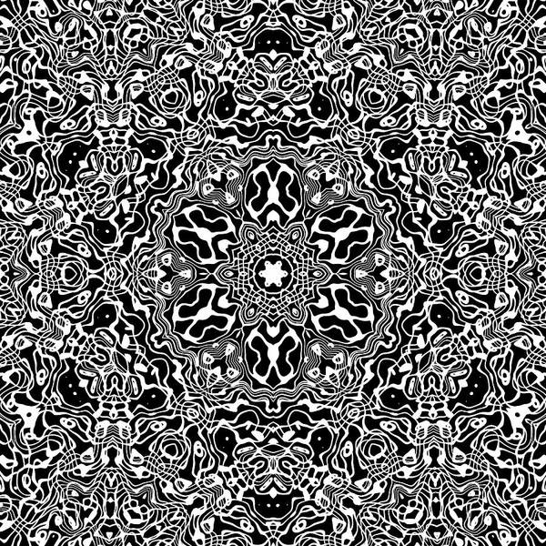 Digital Art - Black And White Mandala 34 by Robert Thalmeier