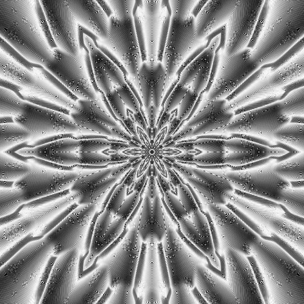 Digital Art - Black And White Mandala 5 by Robert Thalmeier