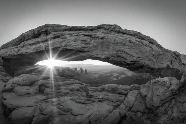Black And White Mesa Arch Sunrise - Canyonlands National Park Utah Art Print