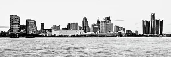 Wall Art - Photograph - Black And White Motor City Pano by Frozen in Time Fine Art Photography