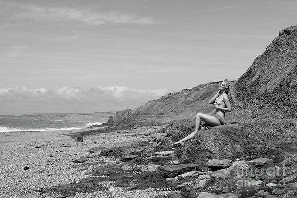 Photograph - Black And White Nude On Beach by Clayton Bastiani