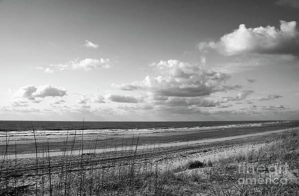 Photograph - Black And White Ocean Scene by Jill Lang