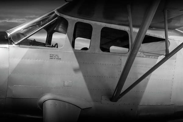 Photograph - Black And White Of Us Navy Airplane Gh-2 by Randall Nyhof