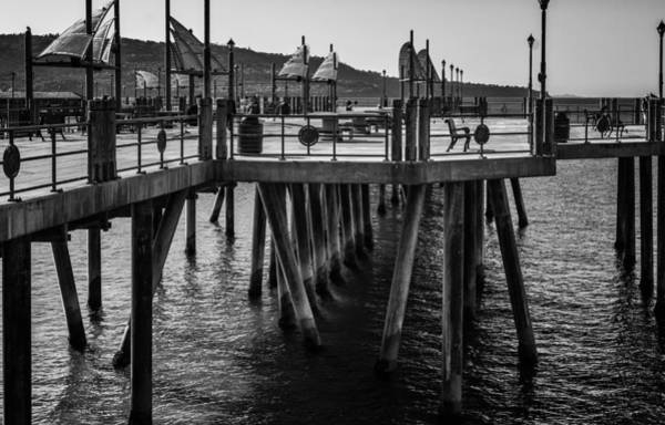 Photograph - Black And White On The Pier by Michael Hope