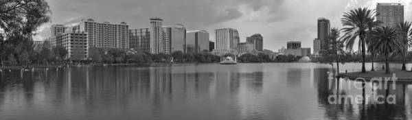 Photograph - Black And White Orlando Sunset by Adam Jewell