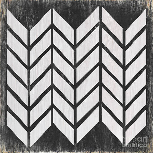 Background Painting - Black And White Quilt by Debbie DeWitt