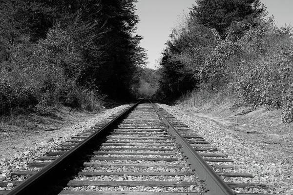 Black And White Railroad Art Print