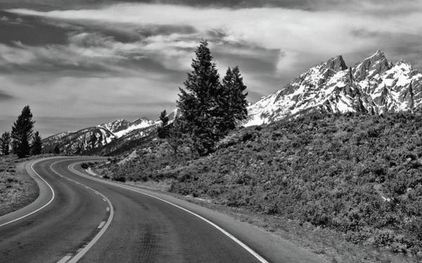 Photograph - Black And White Road To The Mountains by Dan Sproul
