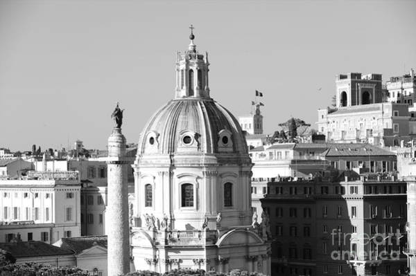 Wall Art - Photograph - Black And White Rooftop In Rome by Stefano Senise