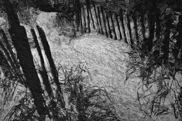 Painting - Black And White Sand by Joan Reese