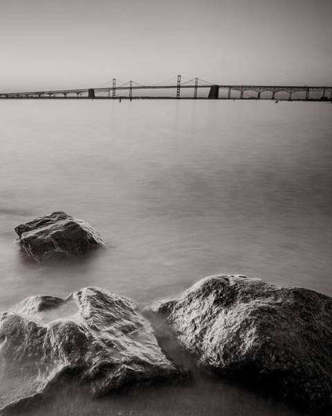 Wall Art - Photograph - Black And White Sandy Point by Jennifer Casey