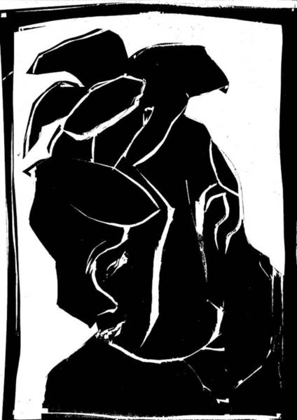 Digital Art - Black And White Series - Flower Hat by Artist Dot