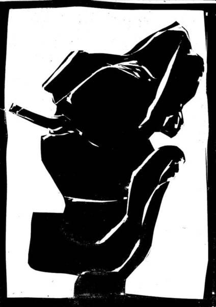 Digital Art - Black And White Series - Smoker Smoking by Artist Dot