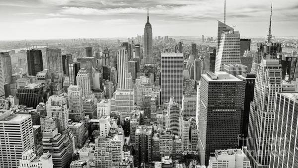 Wall Art - Photograph - Black And White Skyline by MGL Meiklejohn Graphics Licensing