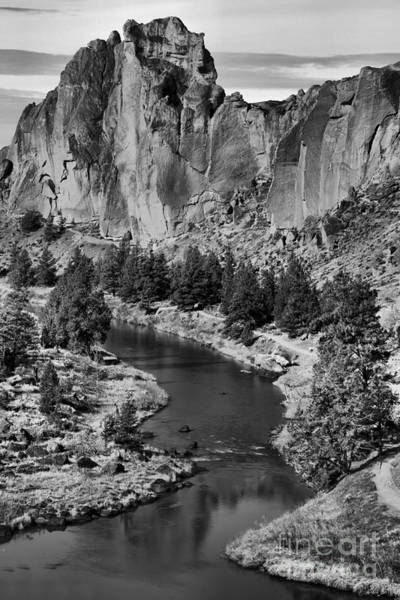 Redmond Photograph - Black And White Smith Rock Portrait by Adam Jewell