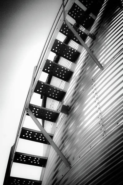 Photograph - Black And White Stairway 4350 Bw_2 by Steven Ward