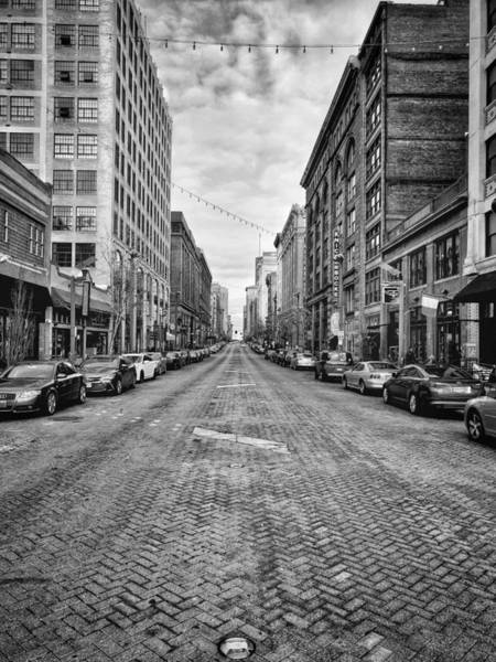 Photograph - Black And White Street by Mike Dunn