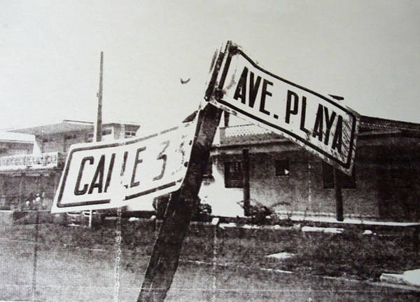 Avenue Painting - Black And White Street Sign by David Studwell