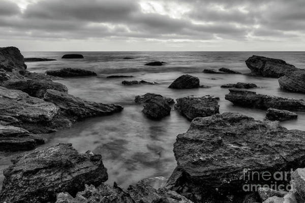 Photograph - Black And White Sunset At Low Tide by Eddie Yerkish