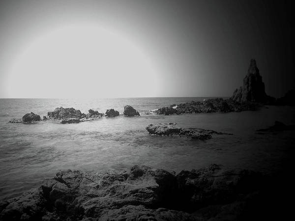 Photograph - Black And White Sunset In Spain by Laura Greco