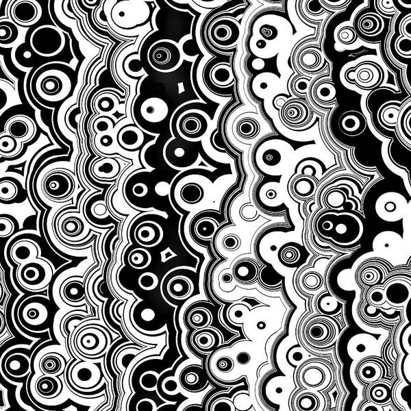 Digital Art - Black And White Targets And Lines by Joy McKenzie