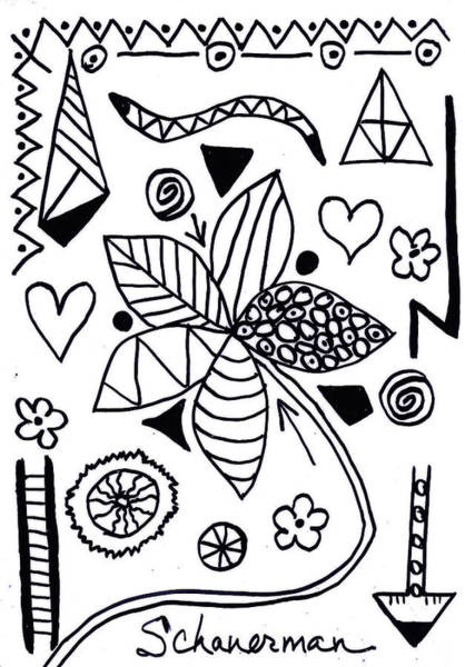Drawing - Black And White Today by Susan Schanerman