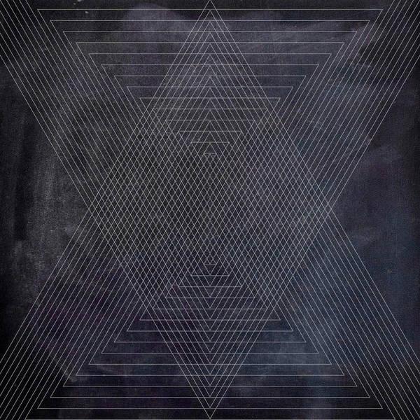Wall Art - Digital Art - Black And White Triangular Line Art by Brandi Fitzgerald