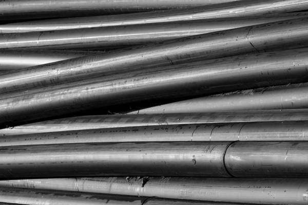 Photograph - Black And White Tubes Abstract by James BO Insogna