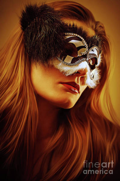Photograph - Black And White Venetian Mask II Eye Mask by Dimitar Hristov