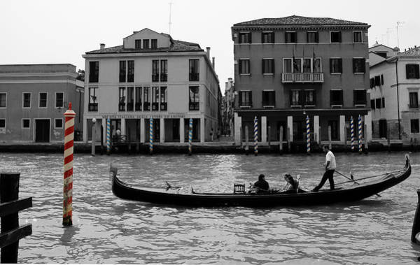 Photograph - Black And White Venice by Andrew Fare
