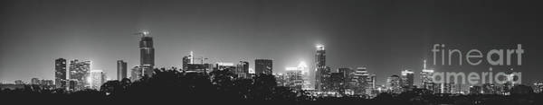 Photograph - Black And White View Of Austin Skyline by PorqueNo Studios